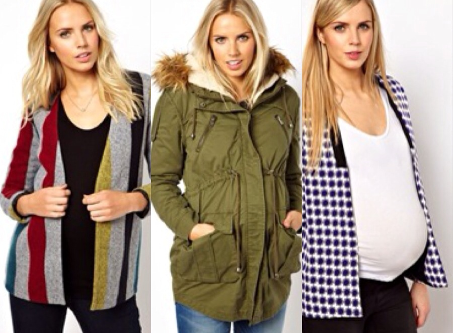 Top maternity outerwear with ASOS