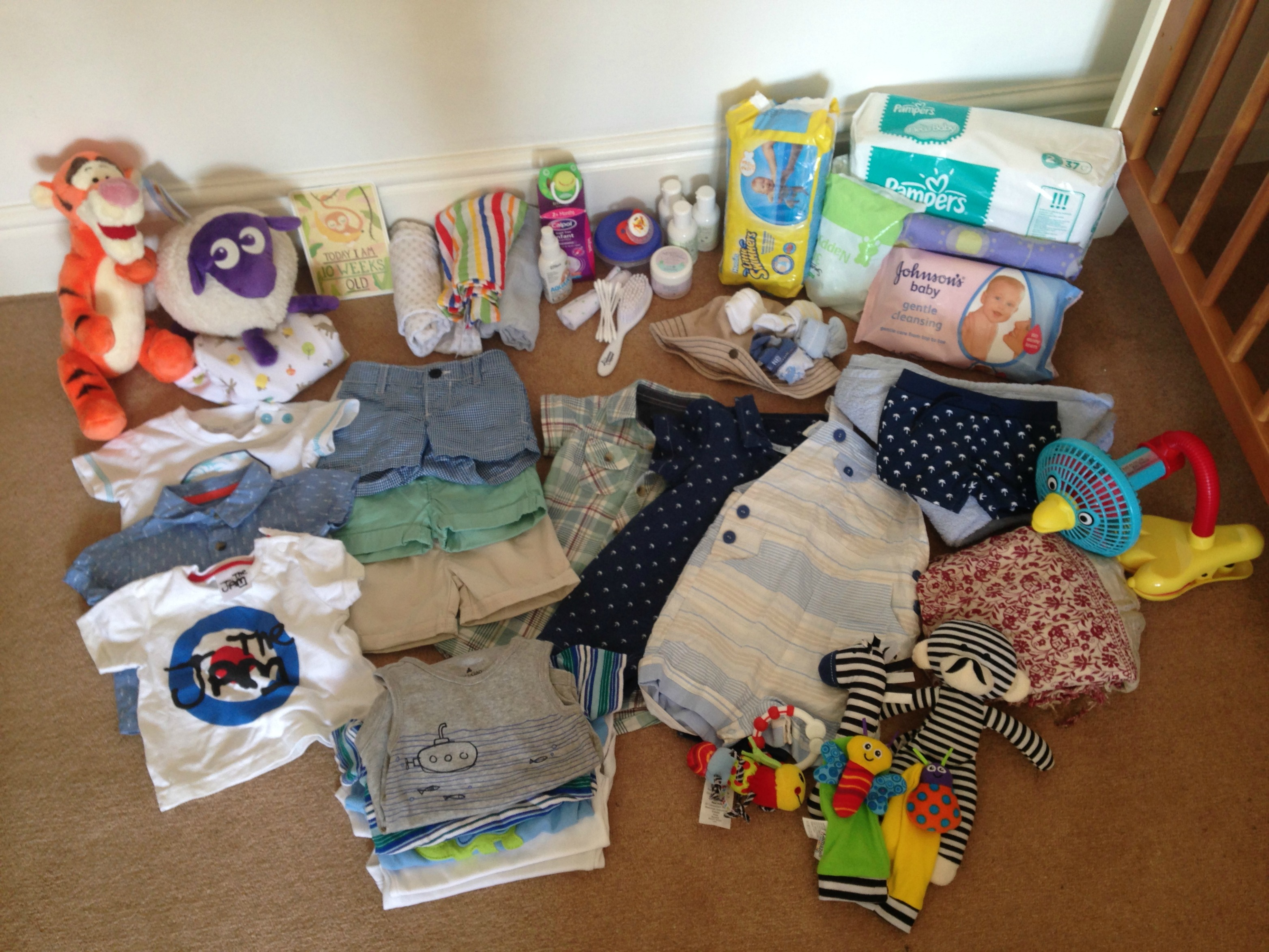 Whats in Jaspers Suitcase? – holiday packing for a newborn