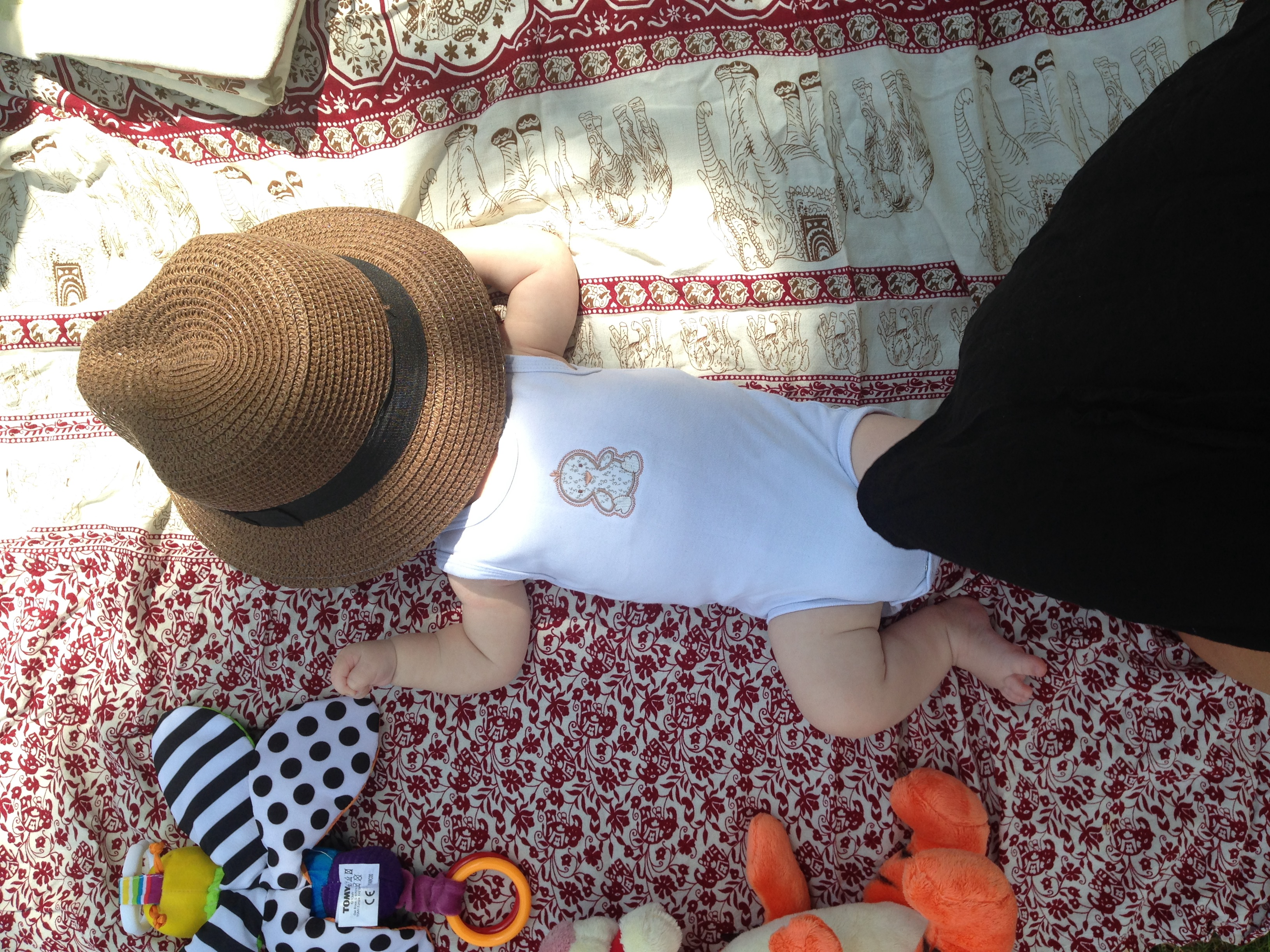 It's getting hot in hurr – keeping baby cool