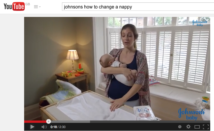 Jasper's a Johnson's Baby – how to change a nappy