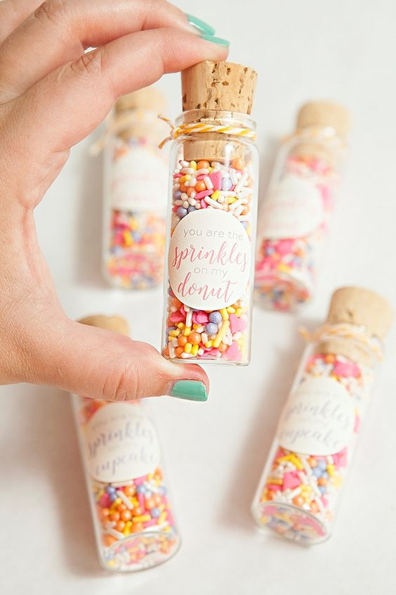 A mini tube of sprinkles would make the perfect gift for your baking buddies but for a safe bet why not go for bath confetti? That way their next pampering session is on you!